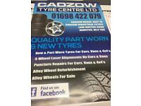 Quality part worn and new tyres!!