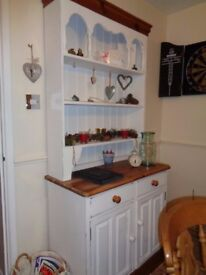 Pine dresser ..needs a touch up..nice quality 2 drawer 2 door