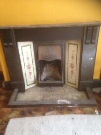 Victorian slate surround and cast iron hood