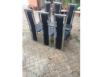 8 Black Dining Chairs (4 REMAINING)