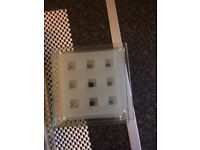 Frostered square table mat and coasters