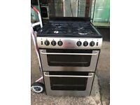 NEWWORLD 60CM ALL GAS COOKER WITH LID IN SILIVER