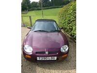 1999 MGF, Colour Plumb with Hard Top