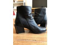 UN United Nude Black Leather Boots with different features