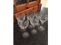 6 Edinborough crystal glasses