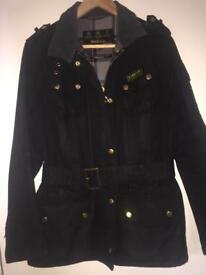 Genuine barber jacket black size 8