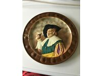 CAVALIER PLATE Hand Painted Ware by Falcon Ware. Made in England. Perfect Condition