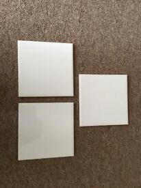 "50 H&B Johnson NEW white ceramicwall tiles, 6""x6"" nominal."