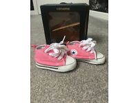 Brand new in the box pink baby Converse