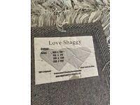Shaggy rug - silver grey - 120 x 170cm