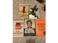 Book job lot including 13 reasons why, paper towns and gone girl will sell separately