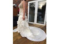 Wedding dress spanish style size 8/10uk