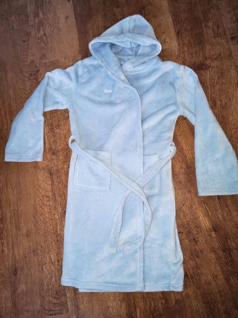 Personalised blue dressing gown
