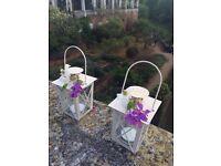 100 x Brand New Mini Ivory Lanterns - Wedding Decor / Favours