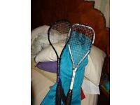 3 Squash rackets : Slazenger PRINCE EXTENDED PRECEDENCE, TITANIUM FORCE MOTION AND DONNAY IMPAC