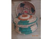 Beautiful Hand Woven HOTPOT and SERVING PLATE