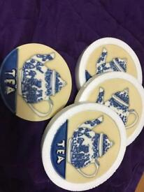 New tea ceramic coasters and more