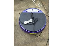 Vibropower Disc with resistance bands and remote control