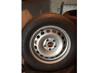4 x VW Caddy Steel Wheels & Bridgestone Tyres