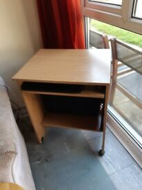 Small computer table no need any more good condition buyer needs to collect