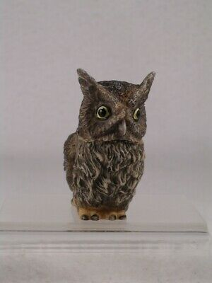 Owl Pot Belly - Harmony Kingdom Pot Bellys Belly 'Screech' Owl #PBZOW12 New In Box