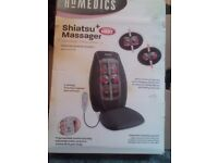 Homedics shiatsu massage chair in box used just once