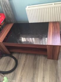 Tv unit and table.