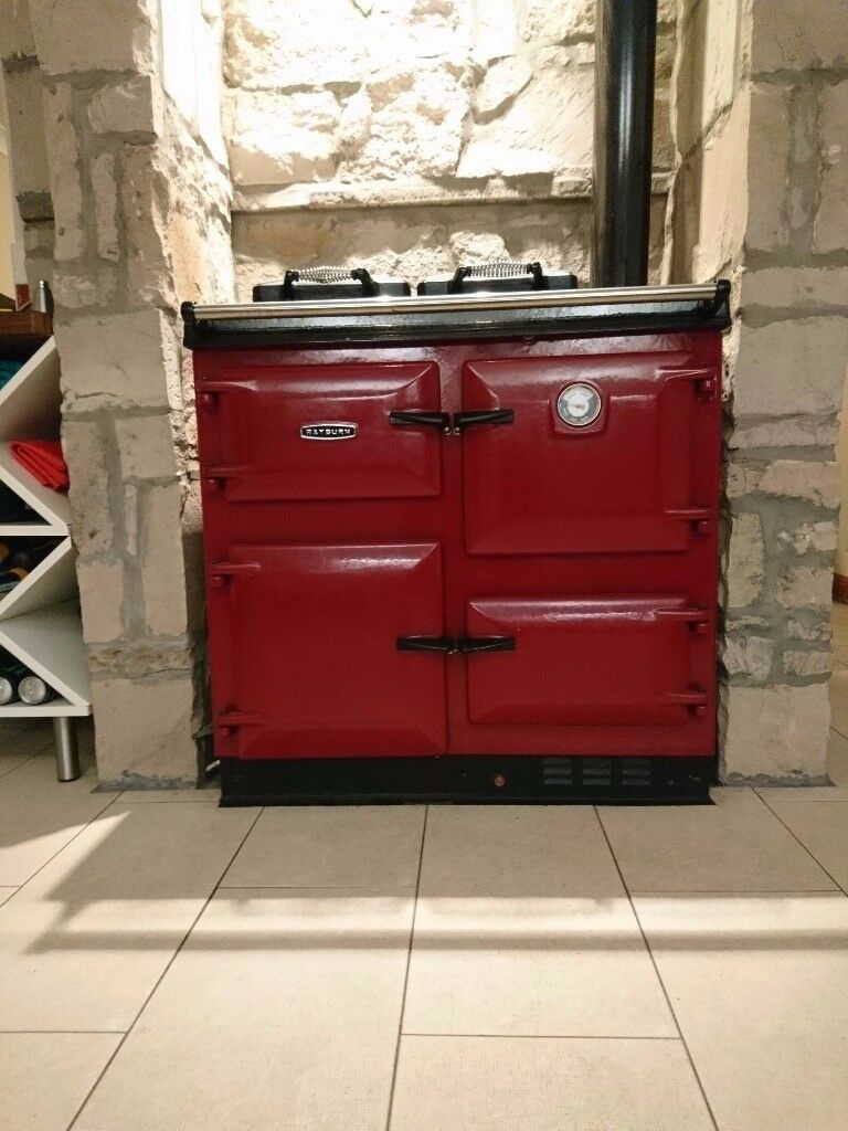 Rayburn 400K Range Cooker, in Red fantastic condition AGA