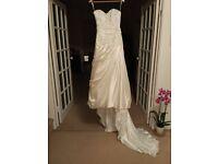 Beautiful Maggie Sottero dress from Allison Jayne. Unworn, petite size 6-8 plus veil