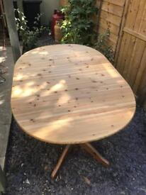 Large pine kitchen / dining table - seats up to 8