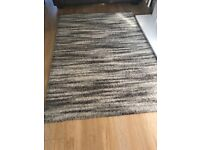 Wardens Brown / beige stripped rug / mat - like new £30 ono