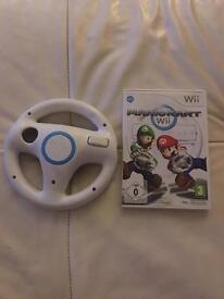 Mariokart and steering wheel for Nintendo wii