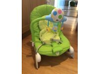 Chicco bouncer with light, sounds and melodies balloon spring green