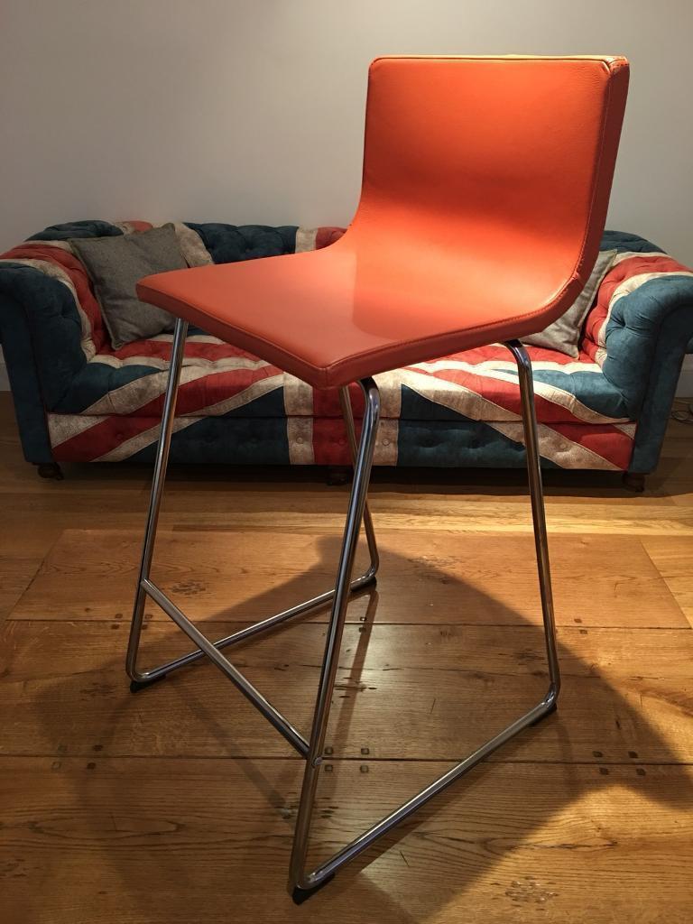 Ikea Bernhard Bar Stools Orange Leather In New Town Edinburgh