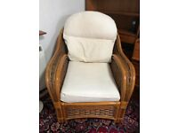 Wicker 2 seater sofa and 2 arm chairs
