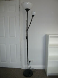 Uplighter with reading lamp (light bulbs included)