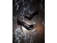 Size 3 Black Silver New Heels