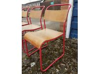 Old School Stacking Chairs - Full Adult Size - Original - Vintage