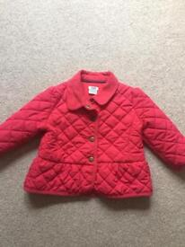 Mamas and papas coat 9-12 months