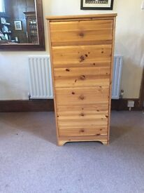 6 Draw Tall Pine Chest of Drawers