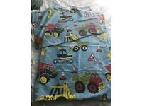Single digger duvet cover and pillow case