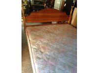 King size divan bed, mattress and headboard