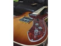Revelation TSS Thinline Telecaster guitar with piezo bridge