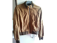 Original Leather MacDouglas® Jacket UK size 12-14, brown pure goat suede, very good condition :-)
