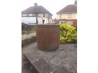 Heavy stone plant pot