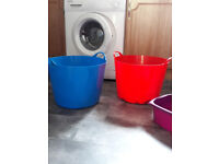 2 Large Round Baskets and 2 Small Baskets for sale
