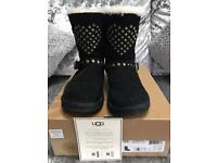 Black Ugg Boots Size 3 100% Genuine With Box