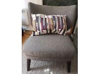 John Lewis grey arm chair