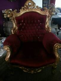 Armchair baroque rococo french