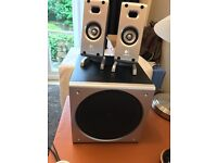 Logitech Z3 2.1 pc speakers with controller and all associated cables